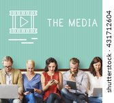 chat communication online blog... | Shutterstock . vector #431712604
