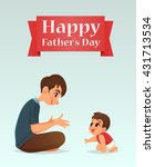 father and baby son  vector... | Shutterstock .eps vector #431713534