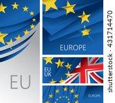 abstract europe flag  european... | Shutterstock .eps vector #431714470