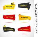 vector stickers  price tag ... | Shutterstock .eps vector #431715574