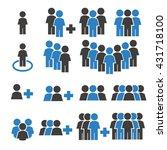 team work  crowd icon set | Shutterstock .eps vector #431718100