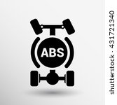 abs. single system symbol car... | Shutterstock .eps vector #431721340