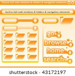 techno windows and navigation... | Shutterstock .eps vector #43172197