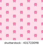 pig pattern | Shutterstock .eps vector #431723098