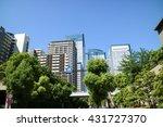 high rise buildings of harumi... | Shutterstock . vector #431727370