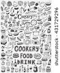 cooking food doodles | Shutterstock .eps vector #431729296