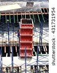 monolithic frame construction... | Shutterstock . vector #431731954