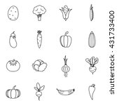 vegetables icons set | Shutterstock .eps vector #431733400