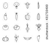 vegetables icons set | Shutterstock .eps vector #431733400