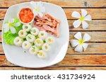 pork and noodle | Shutterstock . vector #431734924