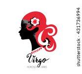 virgo zodiac sign. beautiful... | Shutterstock .eps vector #431736994
