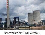 coal fire lignite power plant... | Shutterstock . vector #431739520
