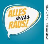 german retro speech bubble that ...   Shutterstock .eps vector #431742988