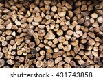Background Of Wooden Logs. Yea...