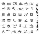 black icons   campsite