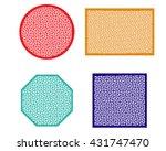 window or beverage coaster in... | Shutterstock .eps vector #431747470