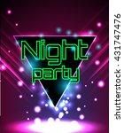 vector flyer template for night ... | Shutterstock .eps vector #431747476