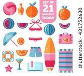 beach summer holiday vacation... | Shutterstock .eps vector #431752630