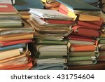 stacked office files  pile of... | Shutterstock . vector #431754604