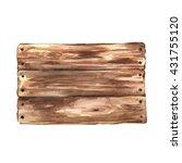 wooden sign on white background ... | Shutterstock . vector #431755120