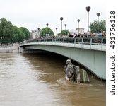 Small photo of Le Zouave du Pont de l'Alma during Paris June 2016 flooding