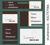 corporate identity vector... | Shutterstock .eps vector #431757586