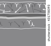 horizontal seamless  pattern of ... | Shutterstock .eps vector #431758393