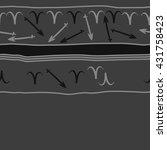 horizontal seamless  pattern of ... | Shutterstock .eps vector #431758423