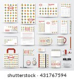 corporate identity template set.... | Shutterstock .eps vector #431767594