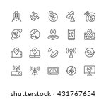 simple set of satellite related ... | Shutterstock .eps vector #431767654