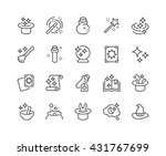 simple set of magic related... | Shutterstock .eps vector #431767699
