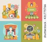 lucky life concept vector... | Shutterstock .eps vector #431775766