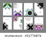 abstract background. geometric... | Shutterstock .eps vector #431776876