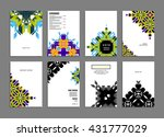 abstract background. geometric... | Shutterstock .eps vector #431777029