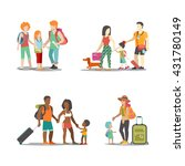 family vacation set. man woman... | Shutterstock .eps vector #431780149