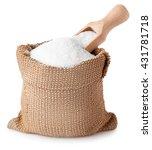 Sugar With Scoop In Burlap Sac...
