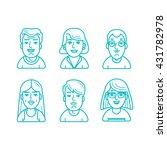 people icons vector set. line... | Shutterstock .eps vector #431782978