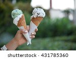 Two Colorful Tasty Ice Cream...