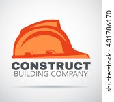 construct building logo on gray ... | Shutterstock .eps vector #431786170