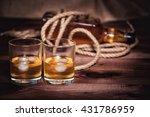 whiskey aged elite alcohol on... | Shutterstock . vector #431786959