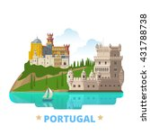 portugal country magnet design... | Shutterstock .eps vector #431788738