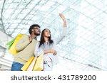 smiling couple making selfie | Shutterstock . vector #431789200