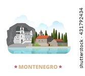 montenegro country design... | Shutterstock .eps vector #431792434
