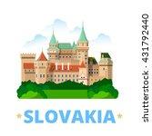 slovakia country fridge magnet... | Shutterstock .eps vector #431792440