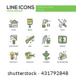 set of modern vector line... | Shutterstock .eps vector #431792848