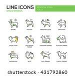 set of modern vector line... | Shutterstock .eps vector #431792860
