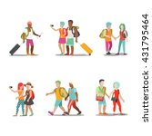 family vacation people icon set.... | Shutterstock .eps vector #431795464