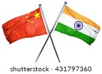 china flag with india flag  3d... | Shutterstock . vector #431797360