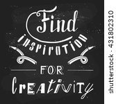 find inspiration for creativity.... | Shutterstock . vector #431802310