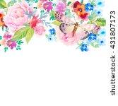 invitation card for wedding... | Shutterstock . vector #431807173